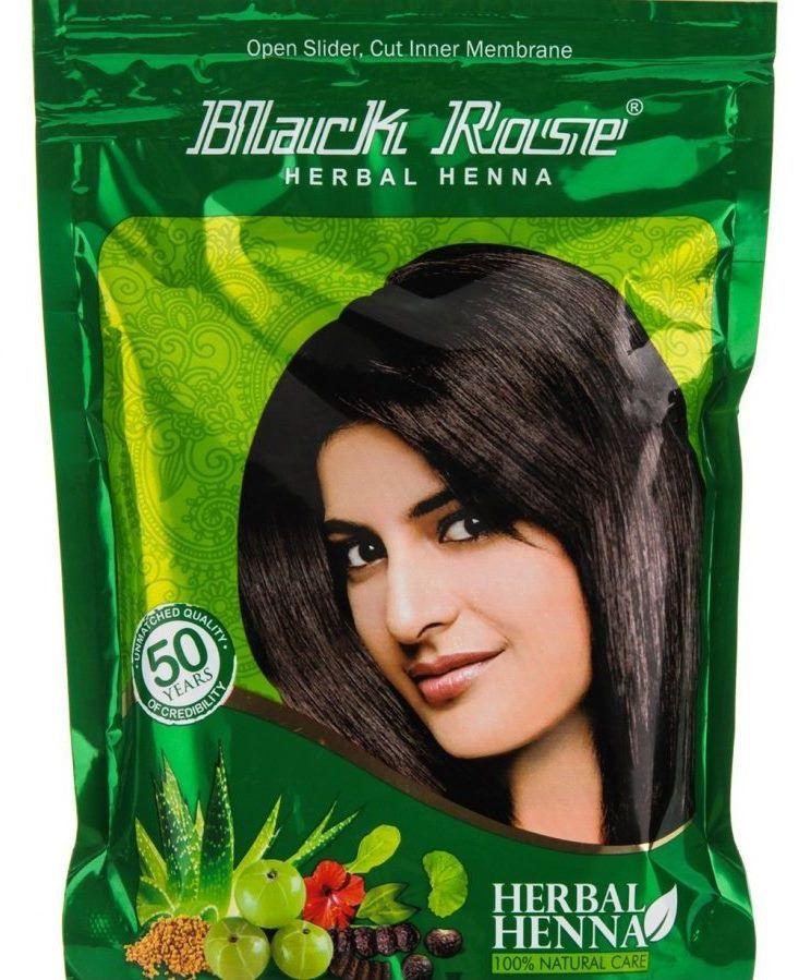 Индийская хна для волос Black Rose, Herbal henna (отправка из Индии)