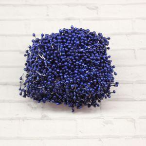 Тычинки перламутровые двусторонние, 3х60мм, цвет №13 синий (1уп = 1500-1600 тычинок)