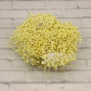 Тычинки перламутровые двусторонние, 3х60мм, цвет №16 лимонный (1уп = 1500-1600 тычинок)
