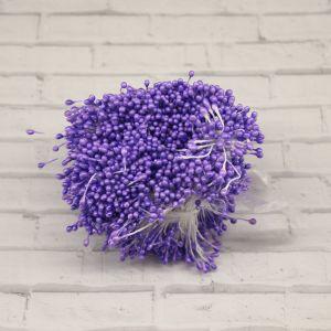`Тычинки перламутровые двусторонние, 3х60мм, цвет №07 сиреневый (1уп = 70-80 тычинок)