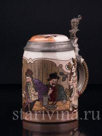 Кружка в Трактире, 0.5 л, Marzi & Remy, Германия, 1900-е гг