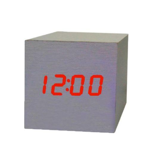Часы эл. VST869-1 крас.цифры (БЕЛЫЕ)