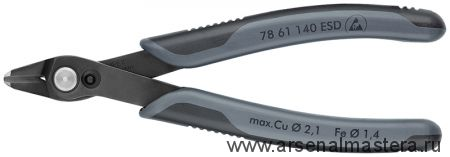 Кусачки для электроники прецизионные антистатические Electronic Super Knips XL KNIPEX 78 61 140 ESD