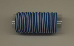 Резинка для волос бесшовная 4 см, полоска, цвет № 17 белый-голубой (1уп = 24шт)