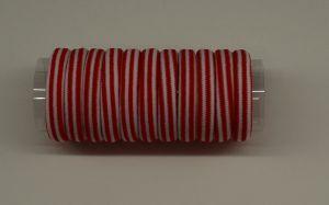 `Резинка для волос бесшовная 4 см, полоска, цвет № 07 белый-красный (1уп = 24шт)