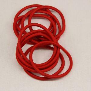 Резинка для волос бесшовная, диаметр 50 мм, цвет 02 красный (1 уп=24 шт)
