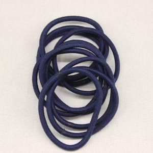 Резинка для волос бесшовная, диаметр 50 мм, цвет 07 темно-синий (1 уп=24 шт)