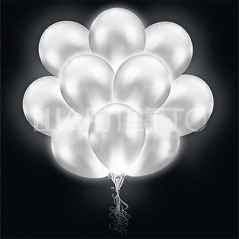 Светящиеся шары 1D Белые