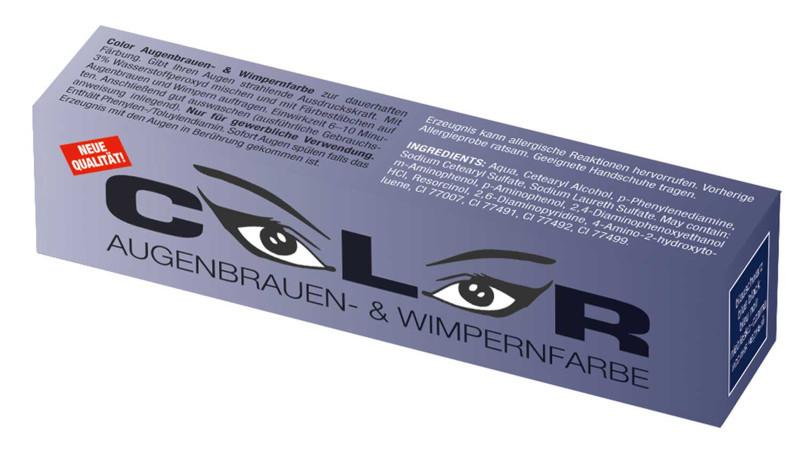 Color Краска для бровей и ресниц ( Сине-чёрная )