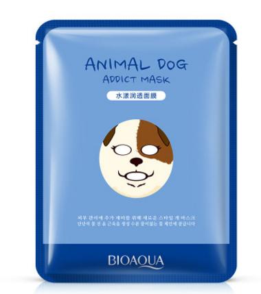 """Тканевая маска для лица «BIOAQUA» """" Собачка""""- выравнивает цвет лица.(3055)"""