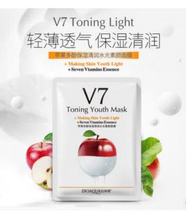 Витаминная маска «BIOAQUA» из серии V7 с экстрактом яблока.(9248)