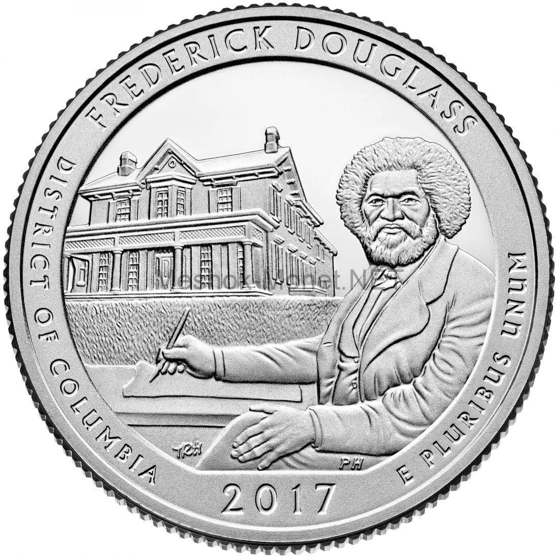25 центов США 2017, 37-й Национальный парк. Фредерик Дуглас, Frederick Douglass