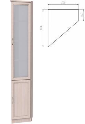 У-208. Шкаф для книг   2216x300x370x113 мм  ВxШxГ