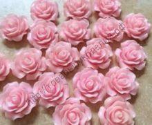 кабошон роза 20мм розовый