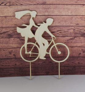 """Заготовка  топпер """"Фигуры на велосипеде"""", 20х15 см, фанера 3 мм, 1 уп=5шт"""