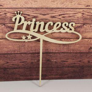 "Заготовка  топпер ""Princess"", 15х15 см, фанера 3 мм, 1 уп=5шт"