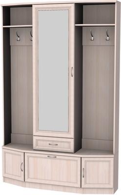У-600. Шкаф для прихожей с зеркалом   2216x1431x370 мм  ВxШxГ