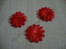 атласные цветочки 35мм 10шт красные