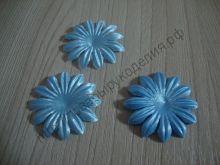 атласные цветочки 35мм 10шт голубые