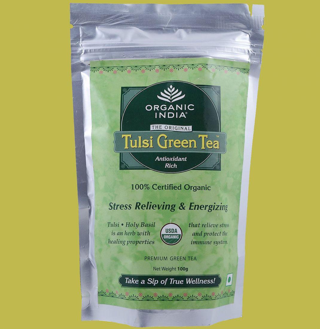 Тулси с зелёным чаем Organic India Tulsi Green tea (отправка из Индии)