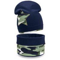 Комплект шапка и шарф для мальчика 6-12 лет №SB132