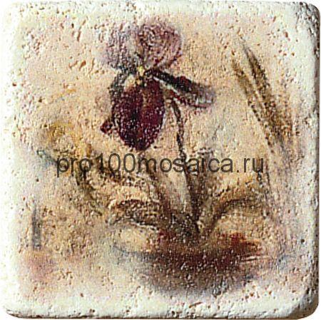1511084-00-1300-1 Cir Marble Age Ins.Travertino S/3 (Один Цветок) 10х10 см (CIR)