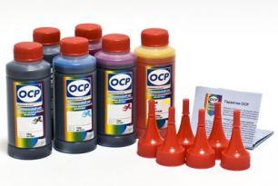 Чернила OCP для принтера и МФУ Canon MG7740, TS8040, TS9040 (BK35, GY153, BK153, C153, M153, Y153) Safe Set, комплект 100 гр. x 6
