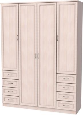 У-112. Шкаф для белья со штангой, полками и ящиками 2216x1640x490 мм  ВxШxГ