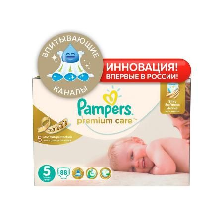 Подгузники Pampers Premium Care 5 (11-18 кг) 88 шт.
