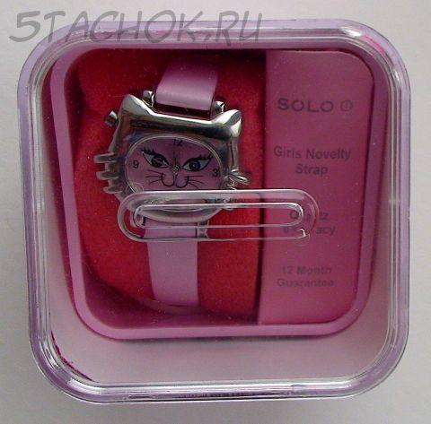"""Часы для девушки """"Кошечка гламурная"""" с коробочкой-копилкой (на ремешке)"""