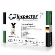 Инспектор Тотал С Капли от внешних и внутренних паразитов для собак от 4 до 10 кг