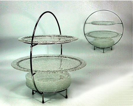 "Набор ""Special"": 8 тарелок и метал. подставка"