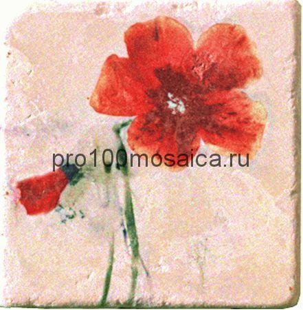 151264-12-5812-2 Cir Marble Style Inserto Style S/3 (Цветок Развернут Вправо) 10х10 см (CIR)