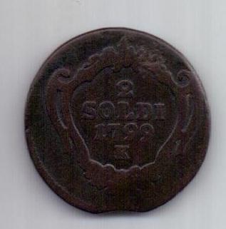 2 сольди 1799 г. К. Гориция. Италия. Австрия