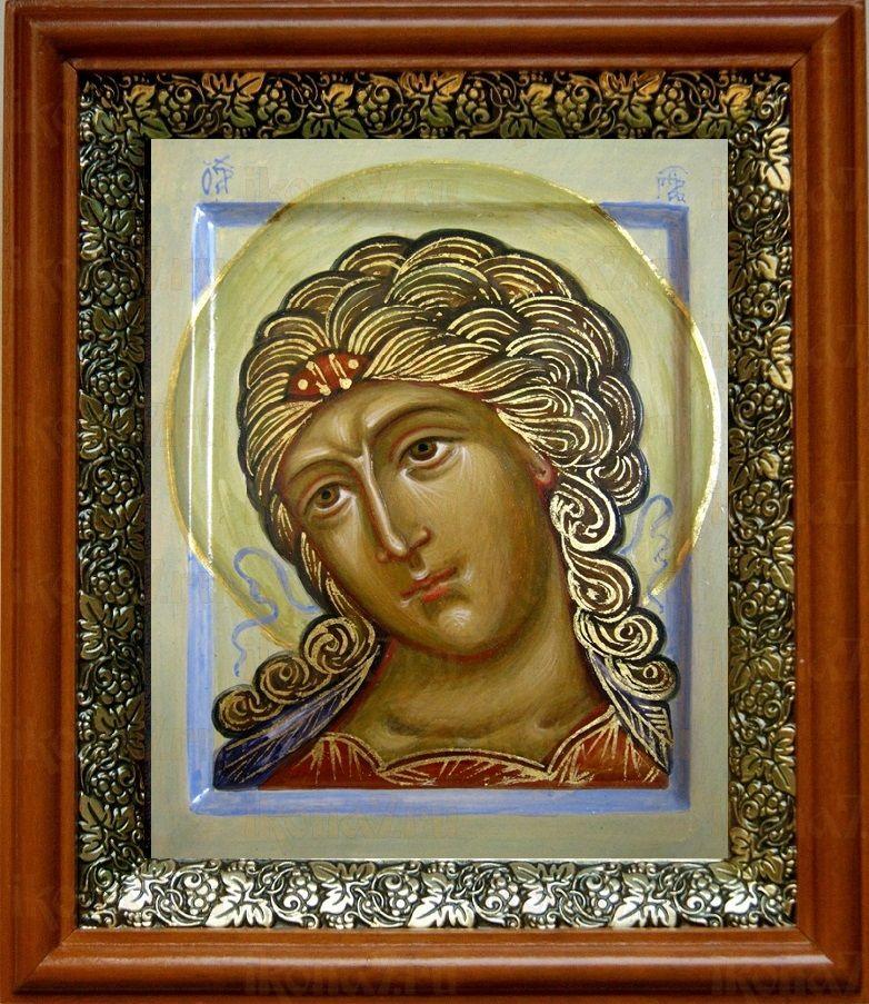 Ангел Златые власы (19х22), светлый киот