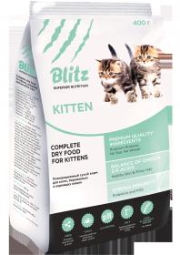Blitz Kitten д/котят, беременных и кормящих кошек Индейка