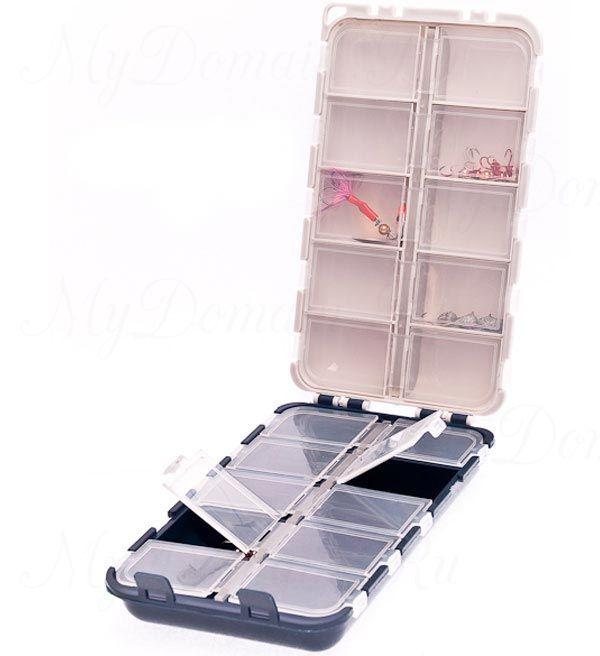 Коробка AQUATECH двойная 20 ячеек с крышками