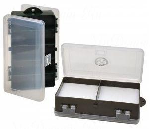 Коробка ТРИ КИТА ТК-22 двойная для блесен и морм. с изолоном 5+2 отделений