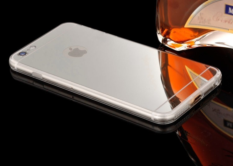 Зеркальный чехол для iPhone 7/8 (серебряный)