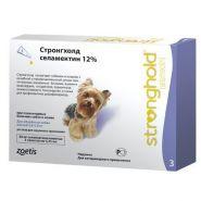Стронгхолд 30 Капли на холку антипаразитарные для собак от 2,5 до 5 кг (3 шт./уп.)