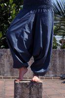 Синие женские штаны алладины из хлопка. Купить в Санкт-Петербурге в интернет магазине Ind-Bazaar.ru