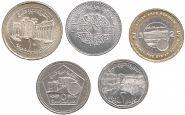 Сирия набор 5 монет 1996 2003 Достопримечательности UNC