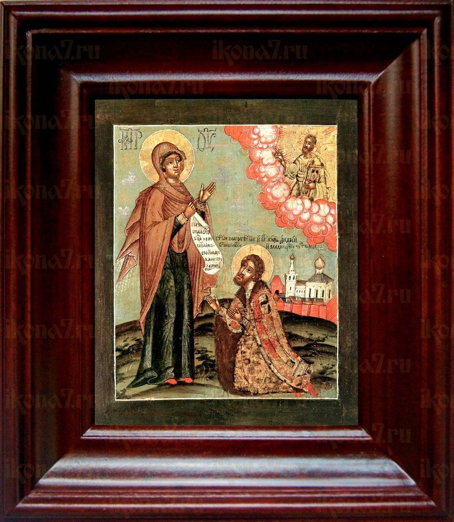 Явление Богородицы Андрею Боголюбскому (21х24), простой киот