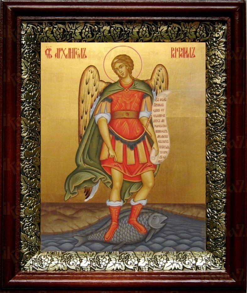 Рафаил Архангел (19х22), темный киот