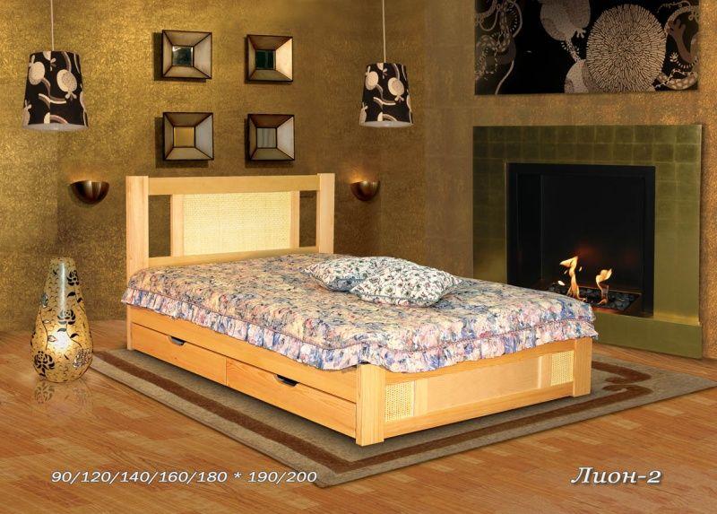 Кровать Лион - 2 (ротанг)   Альянс XXI век