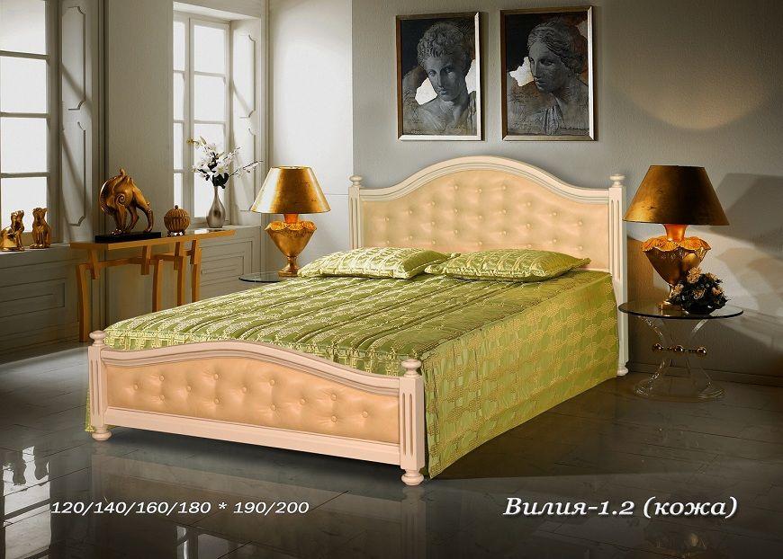 Кровать Вилия-1.2 (кожа) | Альянс