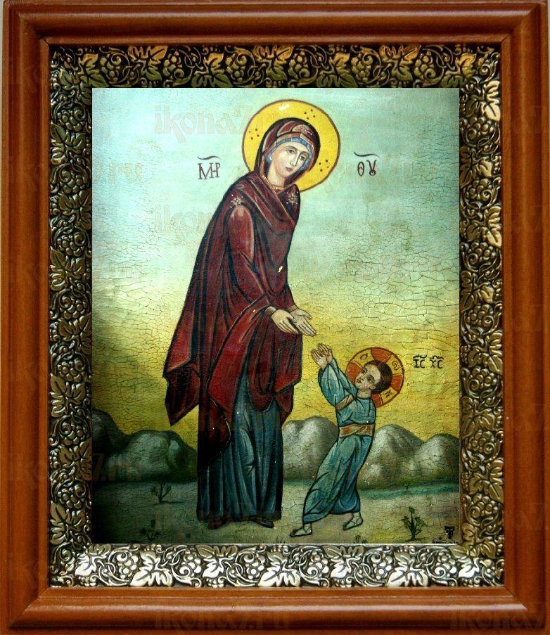 Первые шаги Иисуса Христа (19х22), светлый киот
