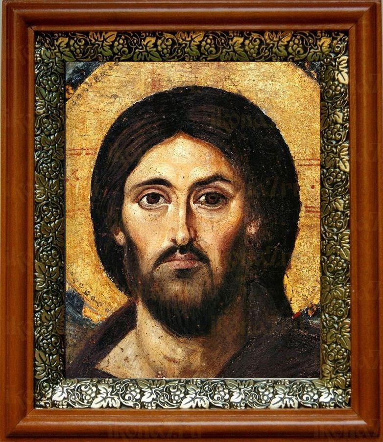 Христос Пантократор Синайский (19х22), светлый киот
