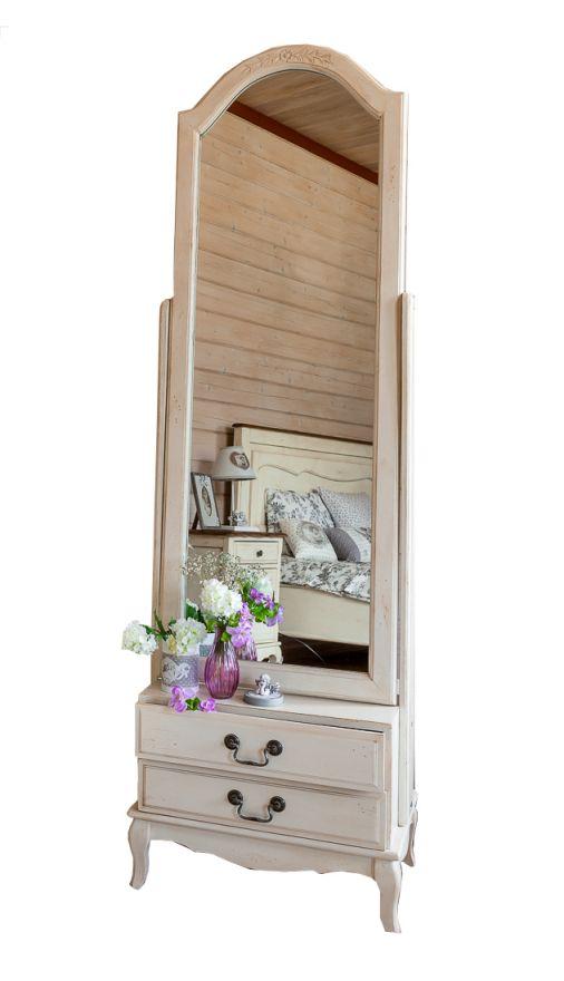 Напольное зеркало Mobilier de Maison Белое