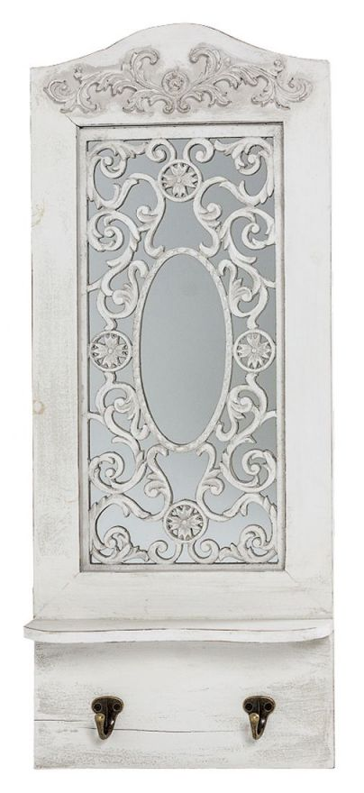 Настенное зеркало Авиньон (белый антик)